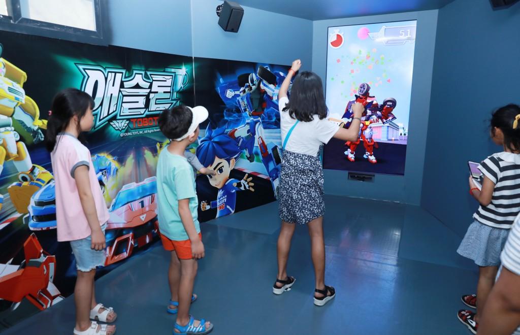 '또봇 정크아트 뮤지엄' 모션 인식 체험